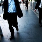 business analyst walking